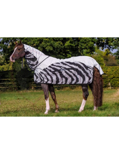 Bucas Buzz-Off Rain Full Neck Zebra